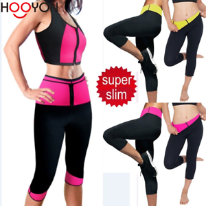7a7b566911 Hot Women Yoga Pants Thermo Neoprene Sweat Sauna Suit Body Shaper ...