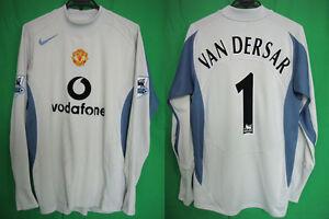 premium selection 2e72b 332c6 Details about 2005-2006 Manchester United GK Jersey Shirt Home vodafone L/S  Van Der Sar 1 #L