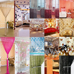Crystal String Curtain Beads Door Room Divider Tassel Fringe Beaded Window Panel