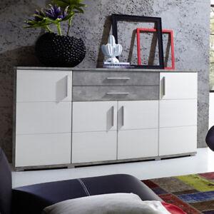 Sideboard Jam Anrichte Kommode Wohnzimmer In Weiss Hochglanz Und