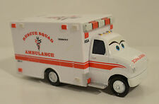 "5"" Rescue Squad Ambulance Diecast Metal & PVC Car Toon Disney Pixar Cars"