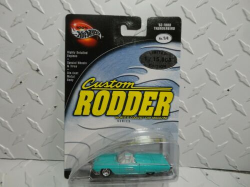 Hot Wheels 100/% Preferred Custom Rodder Green /'63 Ford Thunderbird w//Real Rides