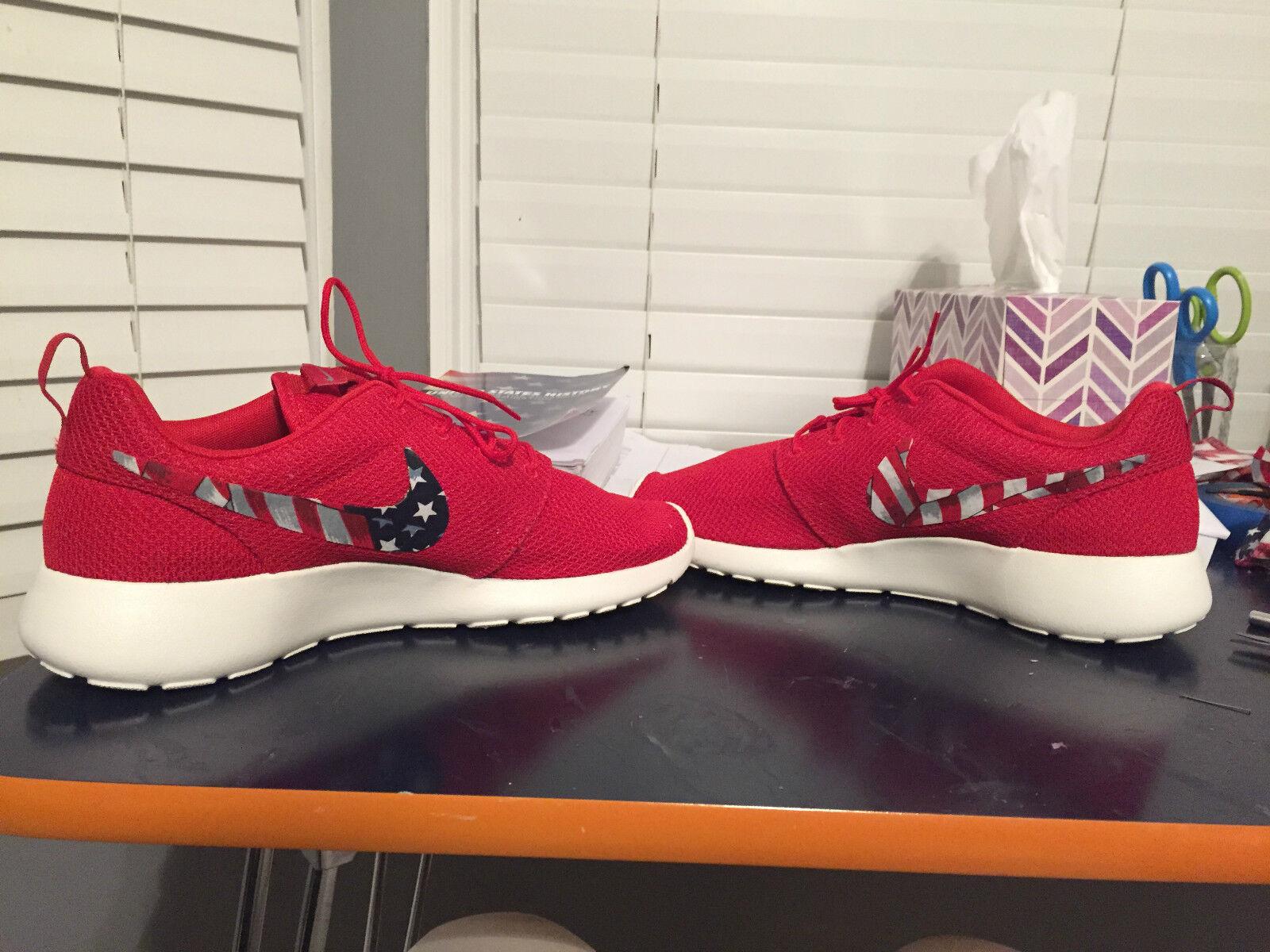 Nike Roshe Run Custom American Flag Flag American c29da4