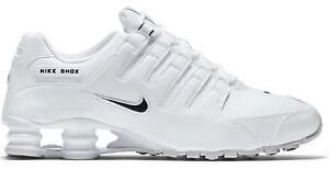 55ed9278c69 New NIKE Shox NZ Premium Running Shoes Mens white black all sizes