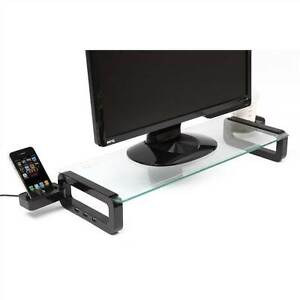 Smart desk Tidy Monitor Stand 3-Port Hub Cup Holder & Smartphone (opened box)