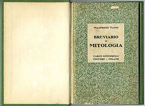 Manfredo-Vanni-Breviario-di-mitologia-Milano-1942