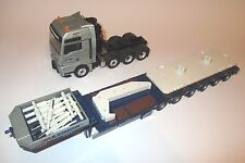 Schwerlast MAN TGX MAXIMUM + Goldhofer STZ H6 Tele-Trailer + TEREX, Conrad 1:50