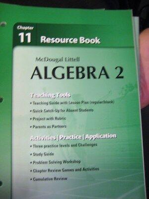 Holt McDougal Larson Algebra 2 Resource Book Chapter 11 9780618734559 EBay