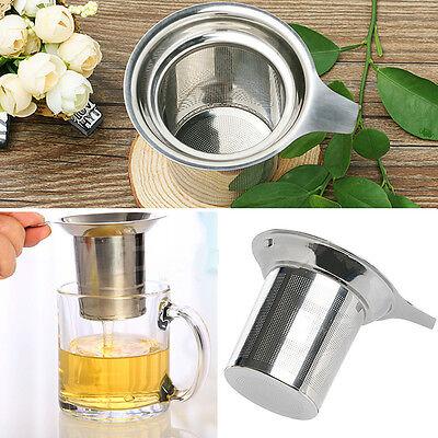Stainless Steel Filter Loose Leaf Tea Herb Infuser Basket Strainer for Cups Mugs