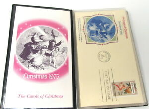 Fleetwood-Carols-of-Christmas-6-first-Day-Issue-Stamp-Cachets-1975-Collection
