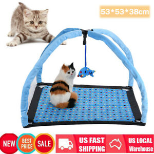 Activity-Tent-Exercise-Play-House-Soft-Mat-Bed-With-Fish-Hanging-Toy-Pet-Cat-Toy