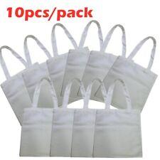 10pcs 38x40cm Blank Dye Sublimation Shopping Canvas Bag