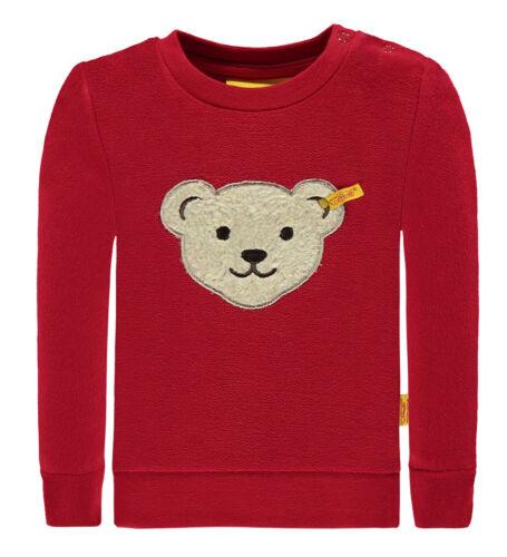 Steiff Sweat-Shirt in tango red mit quitschenden Teddy-Kopf 6713443
