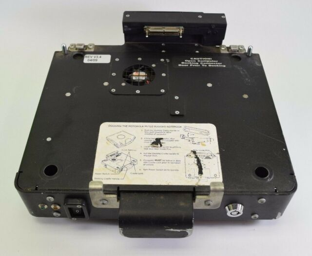 Motorola ML910 ML 900 HKLN4310B Mid Tier Vehicle Docking Station Untested D7