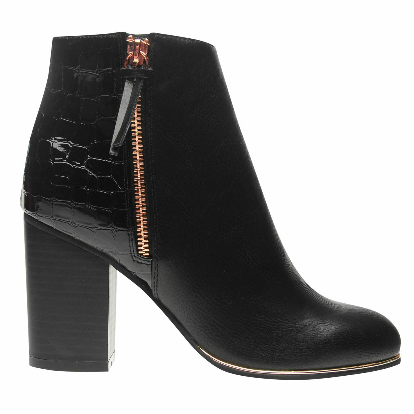 Miso Womens Nixon Rand Zip Boots Heeled Ankle