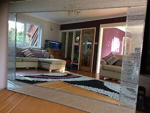 c extra large silver glitter mirror frame living room lounge bedroom