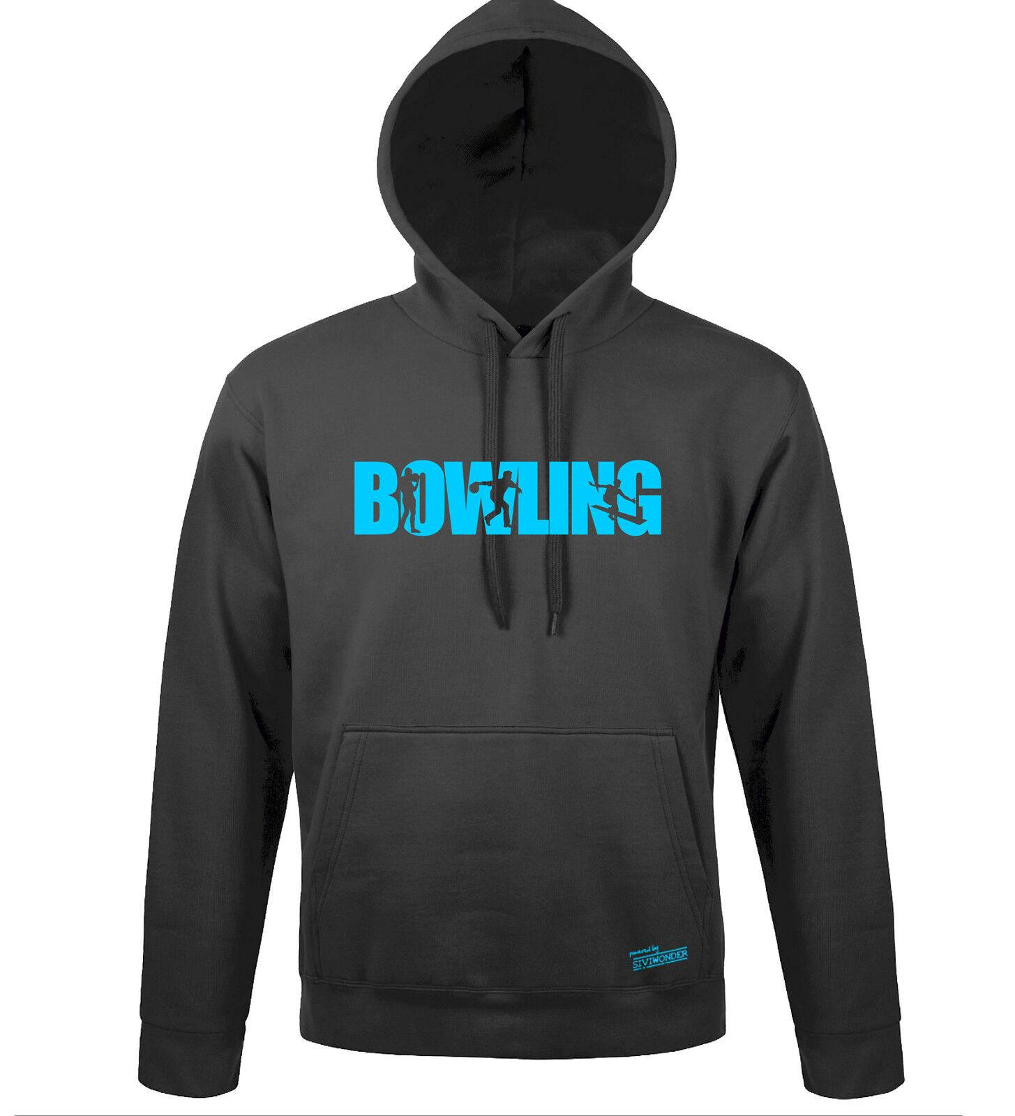 Sweatshirt Hoodie Kapuze BOWLING Schrift Sport Siviwonder