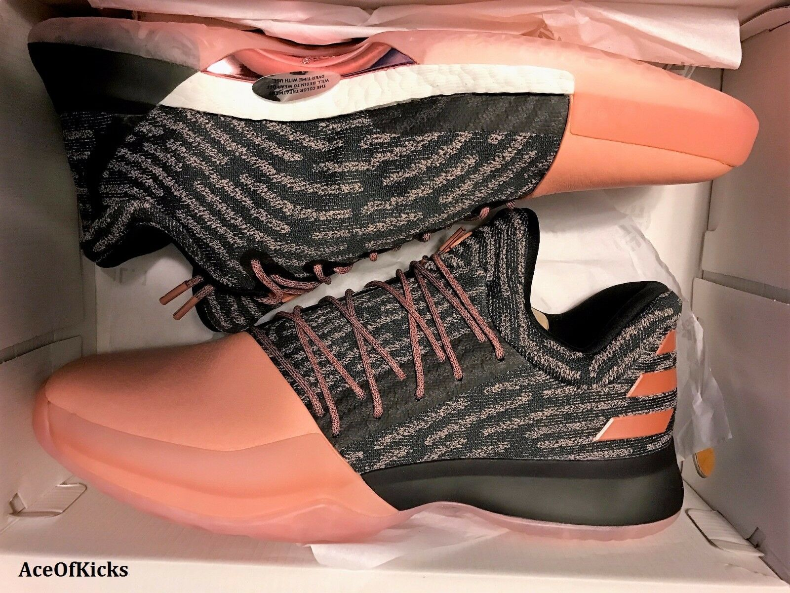 Adidas James Harden Vol. 1 PK Gila Monster   SZ 15 Salmon Pink B39494 Boost mvp