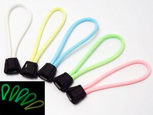 "Handmade 4"" Glow In the Dark 550 Paracord Zipper Pulls Lanyard Puller Backpack"