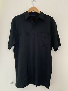 Mens-T-Shirt-Tom-Hagan-L-Black-Short-Sleeve-Casual-lt-JJ12213