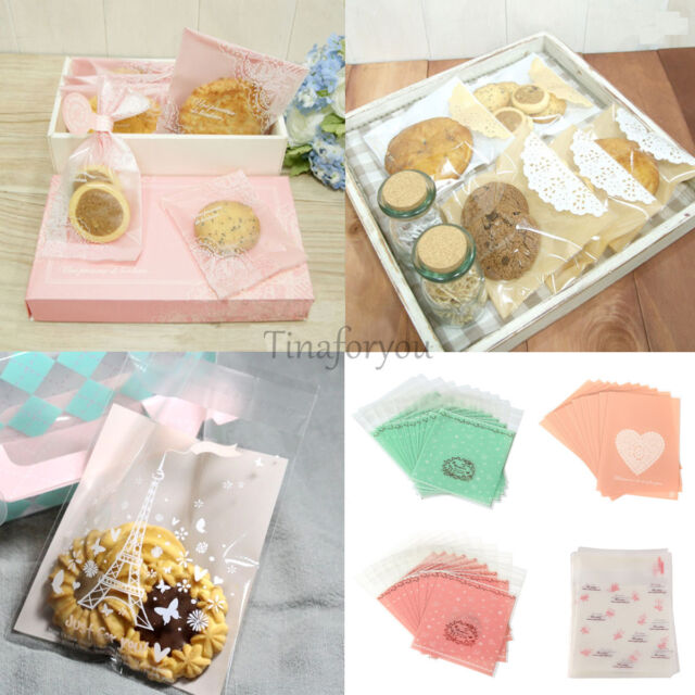 20~50X Self Adhesive Candy Bag Cellophane Cookie  Pack Wedding Xmas Favour Gift