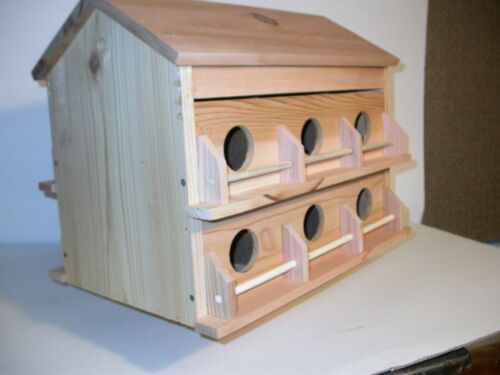 Wood 12 Room Deluxe Purple Martin Bird House Cedar fully assembled free shippin