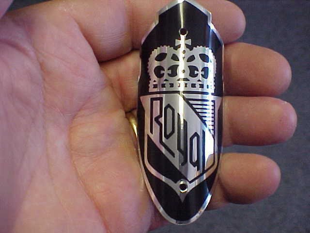 Royal Bike Badge Bicycle Emblem acid etched aluminum