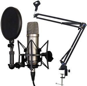 Rode-NT1-A-Set-Kondensator-Mikrofon-keepdrum-NB35-Gelenkarm-Stativ