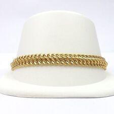"New 18k Gold Figure 8 Eight Infinity Link Bracelet Sz 7.5"""