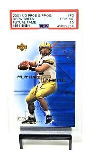 2001-Upper-Deck-Pros-amp-Prospects-RC-Saints-DREW-BREES-Rookie-Card-PSA-10-Pop-45
