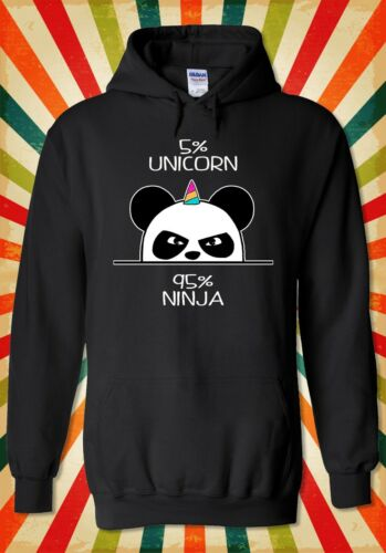 5/% Unicorn 95/% Ninja Panda Funny Men Women Unisex Top Hoodie Sweatshirt 2171