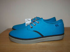 New QUIKSILVER Turquoise Canvas Flat Womens Low Top Trainers  UK-4,5 EU-37,5