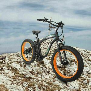 """26"""" 1000W 48V Fat Tire Mountain Beach Electric Bike Bicycle EBike E-Bike LCD"""
