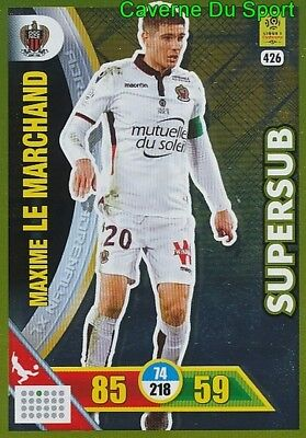 247 MAXIME LE MARCHAND OGC.NICE CARTE CARD ADRENALYN LIGUE 1 2018 PANINI