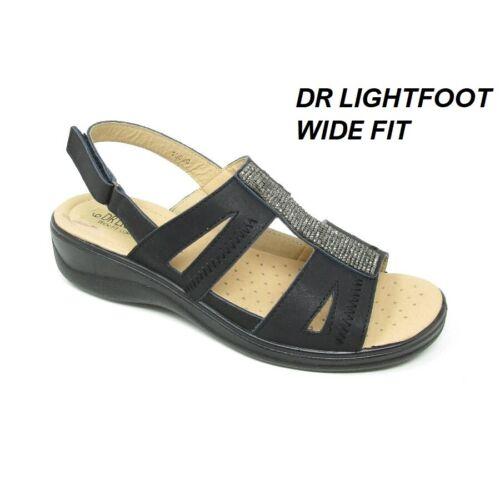 Mesdames Orthopédique Diabétique wide fit Confort Coussin Chaussures d/'été compensées sandales