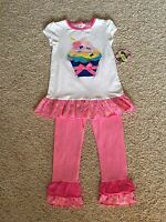 From Dillard's Girls 4t Cup Cake Outfit(copper Key) Two Piece