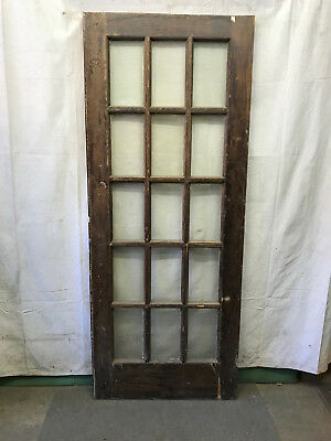 15 Lite Exterior Door Panes Of Beveled Glass Architectural Salvage