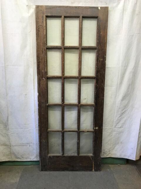 15 Lite Exterior Door 15 Panes Of Glass Architectural Salvage