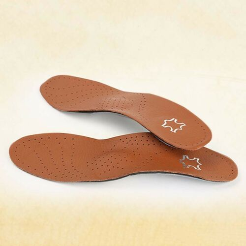 Artificial Leather Plastic Breathable Shoe Inserts Insoles Shock Absorber Pad WA