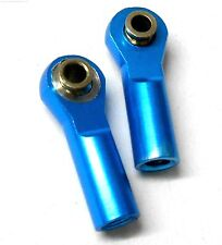 TD10043 06048 1/10 Alloy Pulling Arm Track Rod End 2 RC Light Blue Left Right M4
