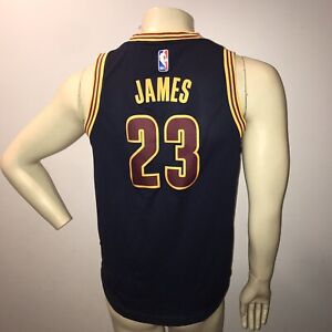 best service 1bcc8 5f292 Details about Cleveland Cavs Lebron James Jersey Adidas Jersey Navy Blue  Authentic Youth Sz L