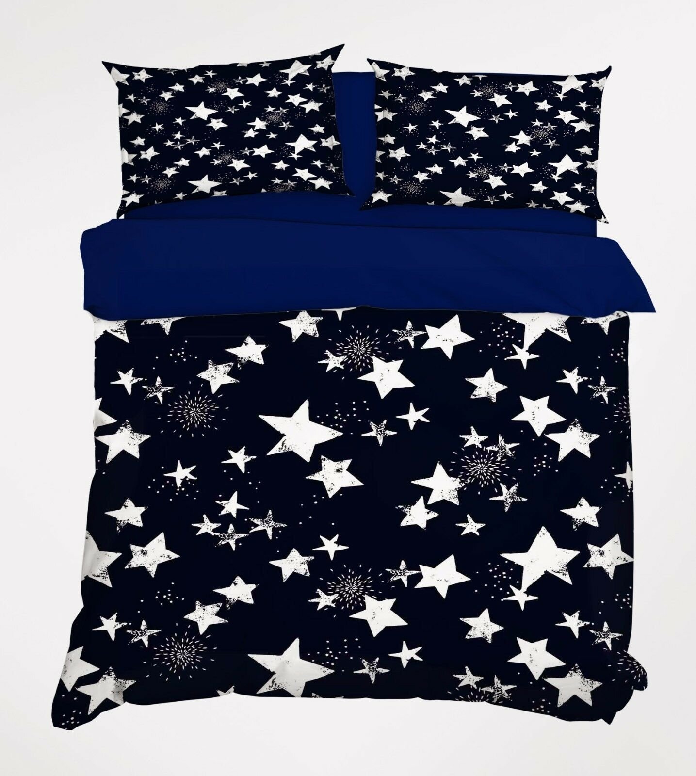 3D White Stars 806 Bed Pillowcases Quilt Duvet Cover Set Single Queen UK Summer
