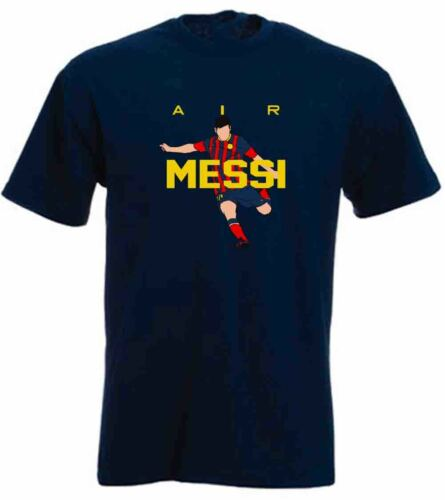"""NAVY Lionel Messi FC Barcelona /""""NEW AIR/"""" T-shirt Shirt or Long Sleeve"""