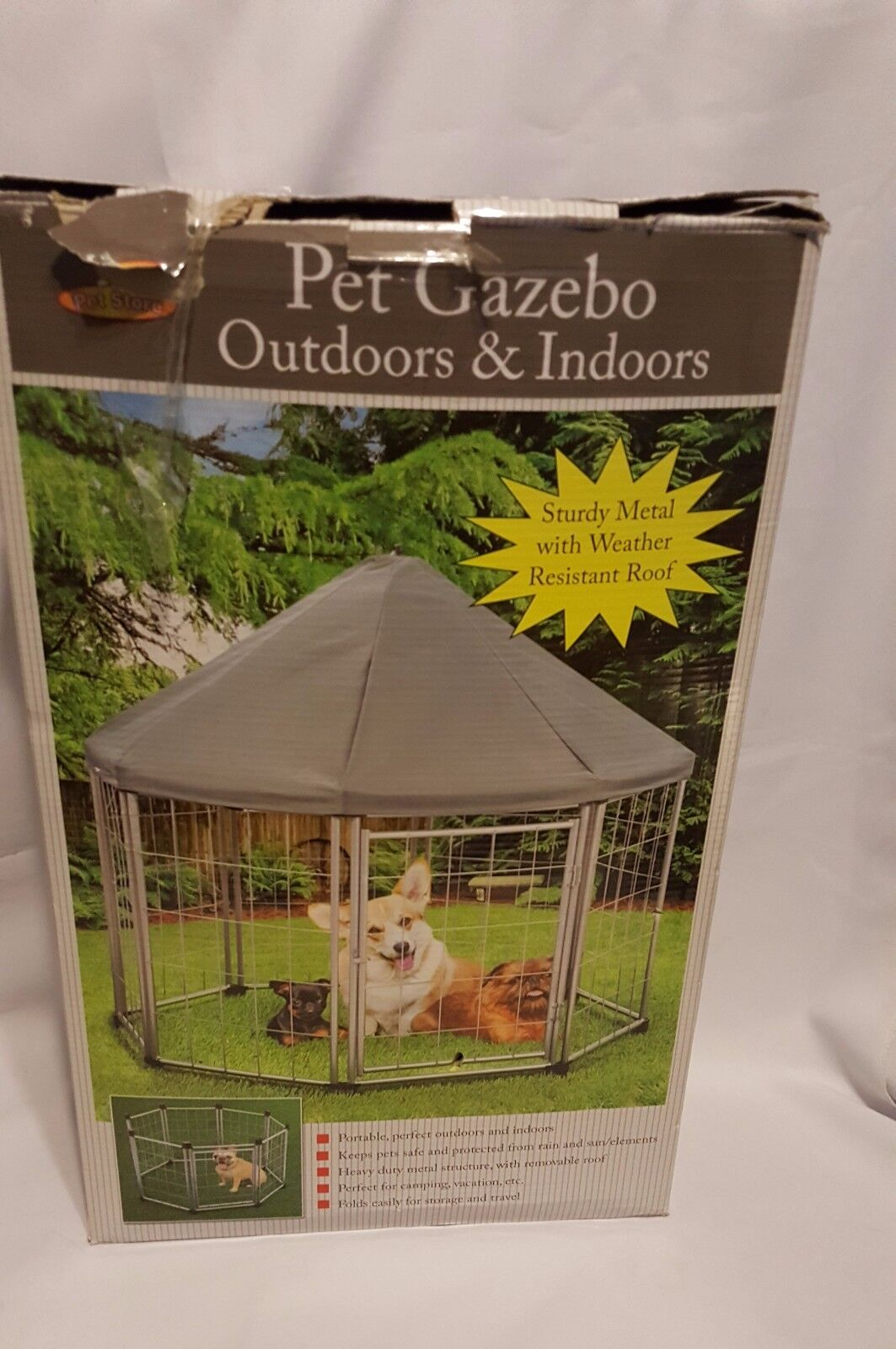 Pet Gazebo Outdoors and Indoors