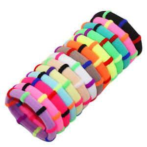 12X-Colorful-Elastic-Rubber-Hair-Ties-Band-Rope-Ponytail-Holder-for-Girl-Kids-FT