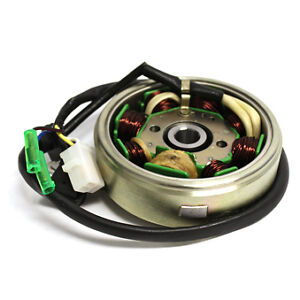 stator flywheel for scooters with 50cc qmb139 4 pin 3. Black Bedroom Furniture Sets. Home Design Ideas