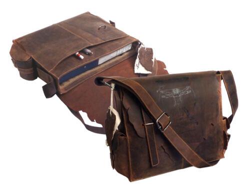 """LandLeder Messengerbag Postbag /""""Jose/"""" 254 Anatomy Rindleder größer als /""""Dalki/"""""""
