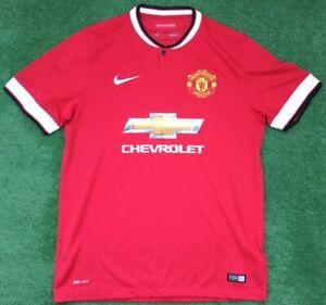 ORIGINALE Manchester United 2014-15 Nike Calcio Casa Maglietta Taglia Large adulto