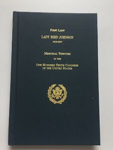 2008-First-Lady-Lady-Bird-Johnson-Memorial-Tributes-Official-Hardcover-Book