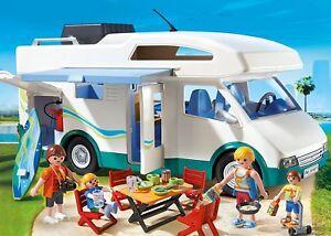 Playmobil-Caravan-Summer-66710-Kitchen-Bathroom-Beds-Toy-Educational-New